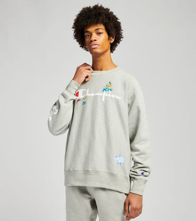 Champion  Dr Seuss Reverse Weave Crewneck  Grey - GF70551328-1IC | Jimmy Jazz