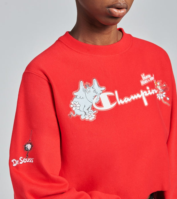 Champion  Dr Seuss Crop Crewneck  Red - GF70551341-607 | Jimmy Jazz