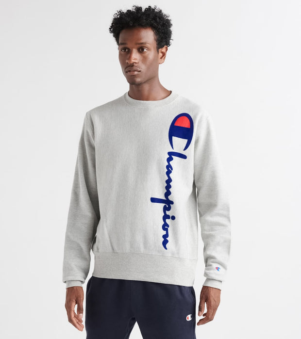 Champion  Reverse Weave LS Crew Oversized Script  Grey - GF70Y07954-1IC | Jimmy Jazz