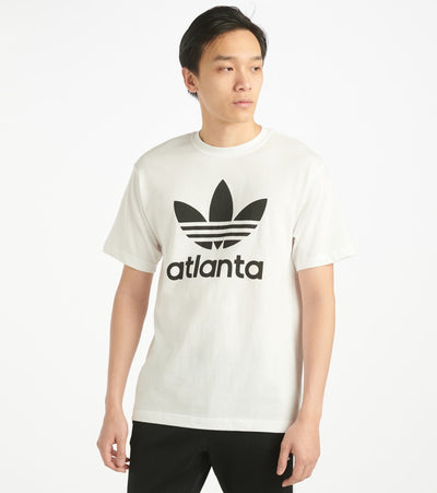 Adidas  Stacked Atlanta Tee  White - GH6804-100 | Jimmy Jazz
