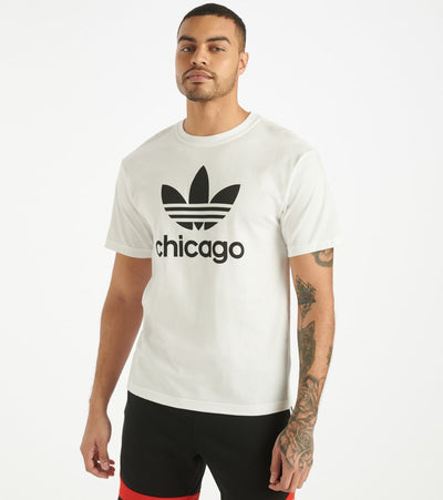 Adidas  Stacked Chicago Tee  White - GH6817-100 | Jimmy Jazz