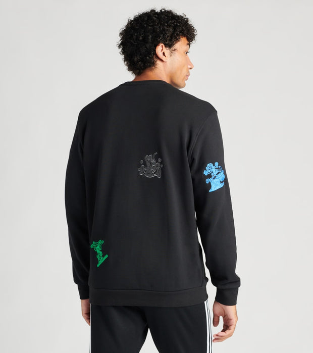 Adidas  Goofy Fleece Crew Long Sleeve  Black - GJ0848-001 | Jimmy Jazz