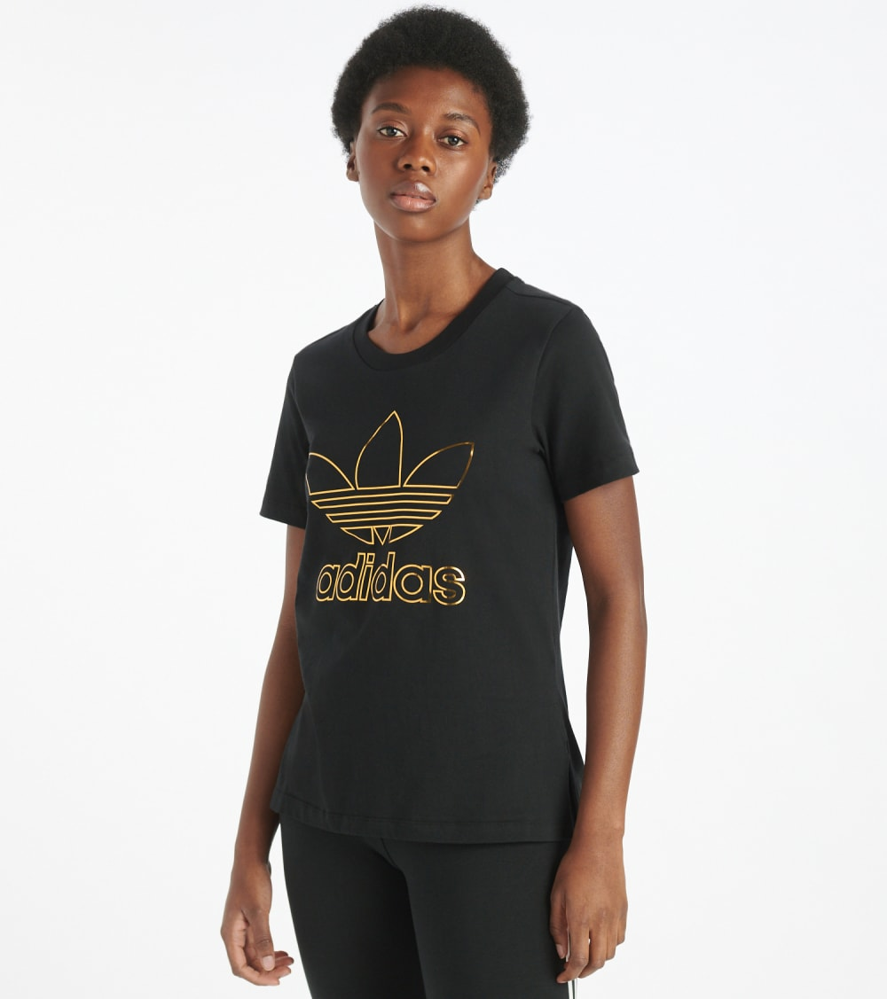 Adidas  Superstar Red Carpet Shine Tee  Black - GK1725-001 | Jimmy Jazz