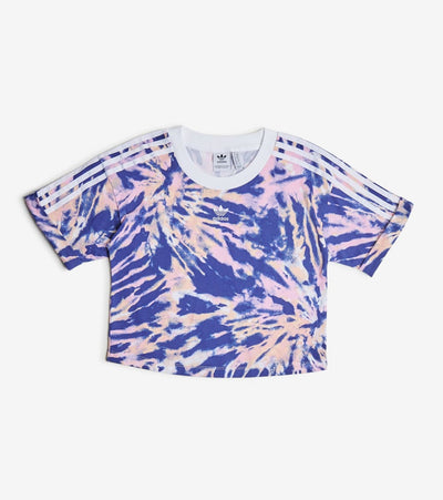 Adidas  Adi Tie Dye Crop Tee  Navy - GL6360-997 | Jimmy Jazz