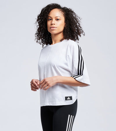 Adidas  Future Icons Short Sleeve Tee  White - GN1836-100 | Jimmy Jazz