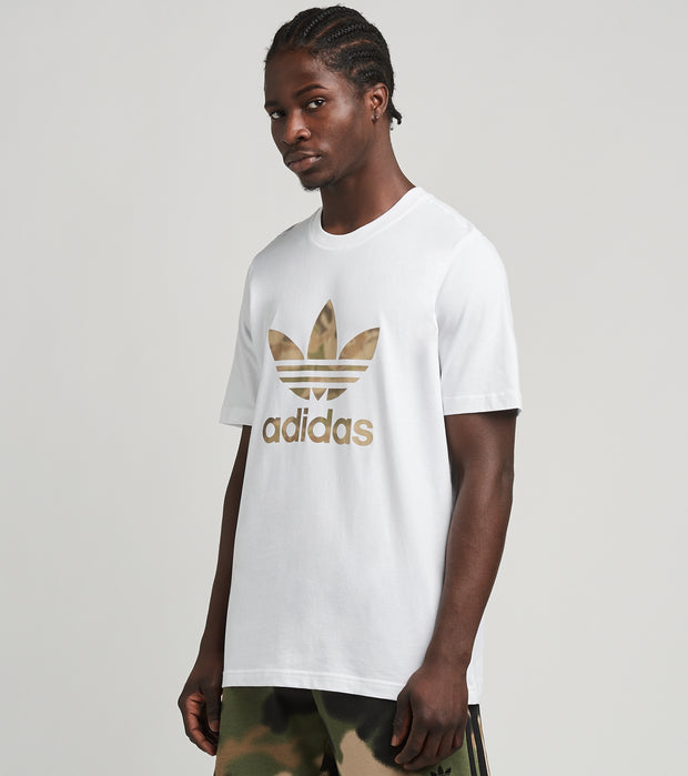 Adidas  Camo Trefoil Short Sleeve Tee  White - GN1855-100 | Jimmy Jazz