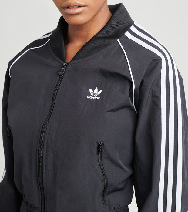 Adidas  Short 3 Stripe Track Top  Black - GN2791-001 | Jimmy Jazz