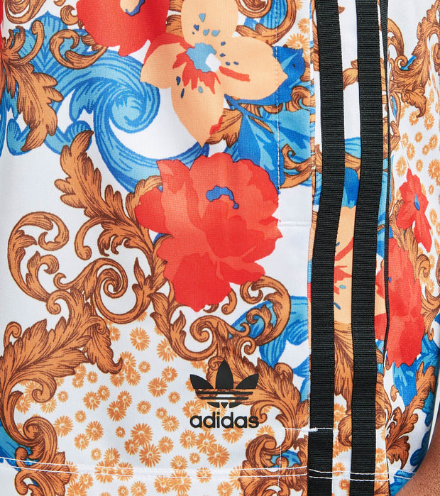 Adidas  Her Studio White Floral Shorts  White - GN3359-997 | Jimmy Jazz