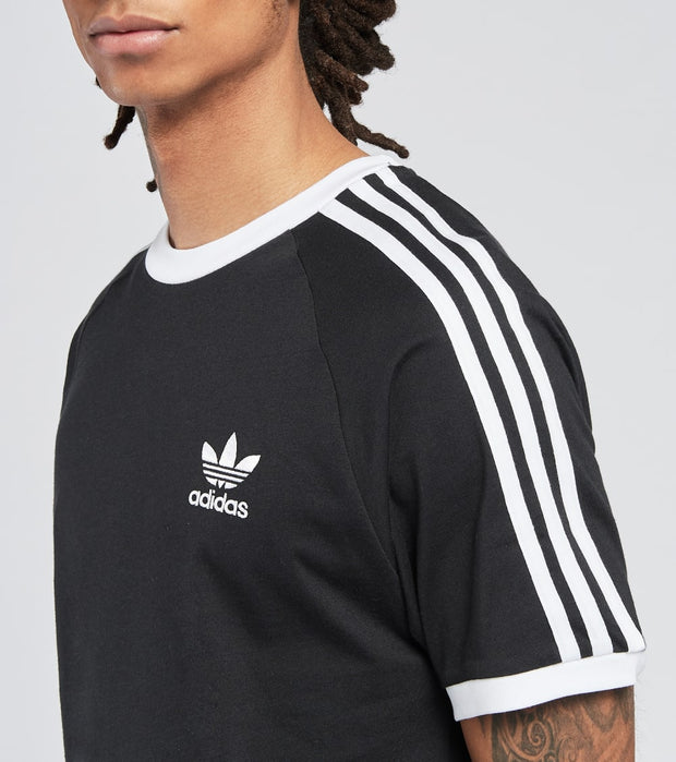 Adidas  3 Stripes Short Sleeve Tee  Black - GN3495-001 | Jimmy Jazz
