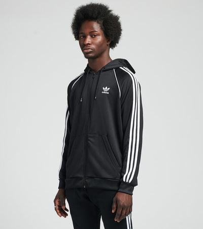 Adidas  Originals Full Zip Hoodie  Black - GN4482-001 | Jimmy Jazz