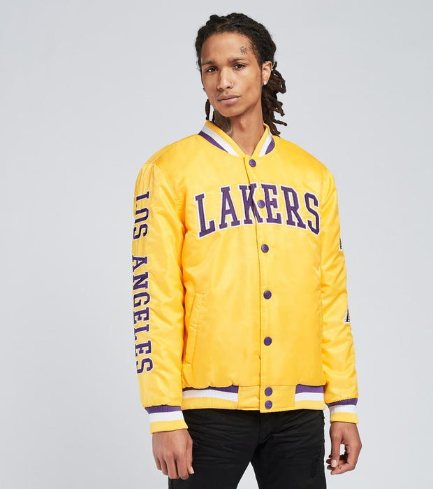 Unk  Cream Lakers Jacket  Yellow - GOM9925FLL-YLW | Jimmy Jazz