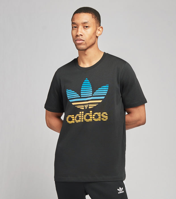 Adidas  Trefoil Ombre Tee  Black - GP0166-001 | Jimmy Jazz
