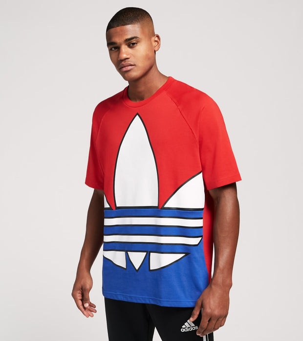 Adidas  Big Trefoil Blocked Tee  Red - GP7258 | Jimmy Jazz