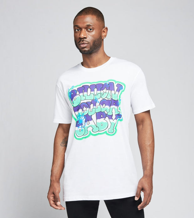 Billion Dollar Baby   Graffiti Tee  White - GRAFFITI-WHT | Jimmy Jazz