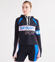 Superdry  Sport Sprint Half Ziphood  Navy - GS3121TU-24S | Jimmy Jazz