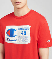 Champion  Heritage Screen Print Logo Tee  Red - GT19586377-2WC | Jimmy Jazz