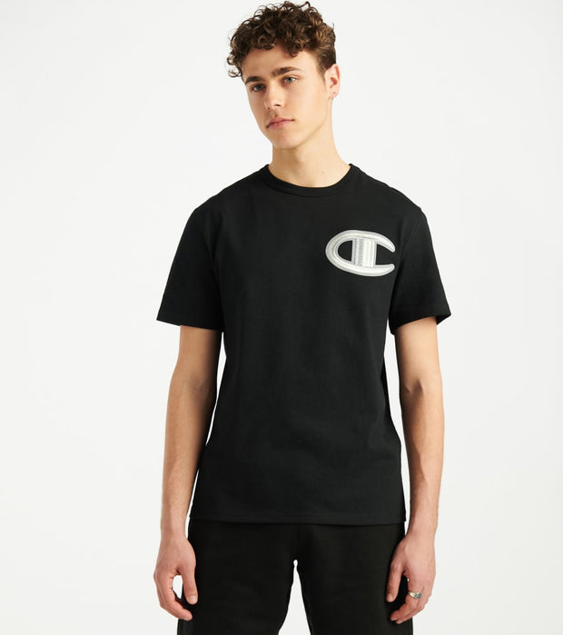 Champion  Heritage Floss Stitch Tee  Black - GT19Y07981-BKC | Jimmy Jazz