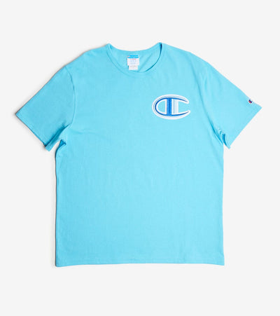 Champion  Heritage Floss Stitch Tee  Blue - GT19Y07981-QQC | Jimmy Jazz