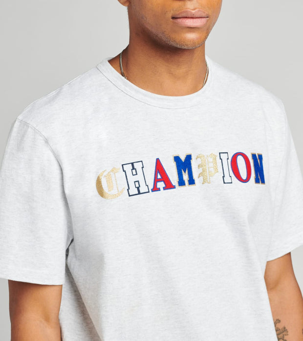 Champion  Heritage Tee With Old English Lettering  Grey - GT19Y07983-2UC | Jimmy Jazz