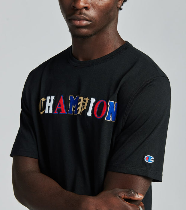 Champion  Old English Lettering Heritage Tee  Black - GT19Y07983-BKC | Jimmy Jazz