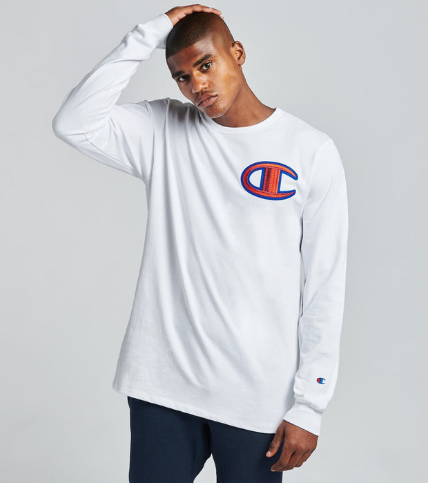 Champion  Heritage Long Sleeve Tee  White - GT47Y07981-WHC | Jimmy Jazz