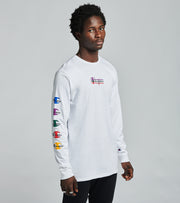 Champion  Heritage Long Sleeve Tee  White - GT47Y08322-WHC | Jimmy Jazz