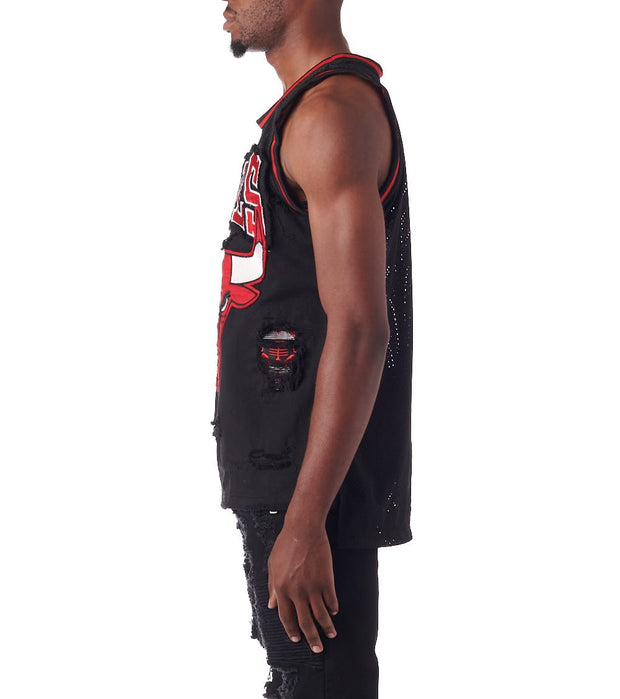 Unk  Chicago Bulls Denim Tank Top  Black - GXM4596SCB-BKB | Jimmy Jazz