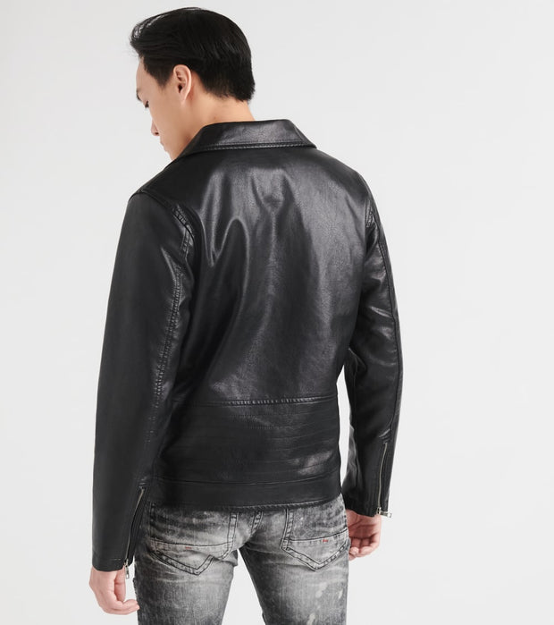 Reason  Leather Punk Jacket  Black - H016-BLK | Jimmy Jazz