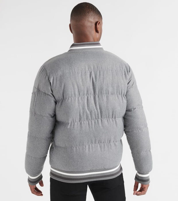 Reason  Puffer Bomber Jacket  Grey - H037-GRY | Jimmy Jazz