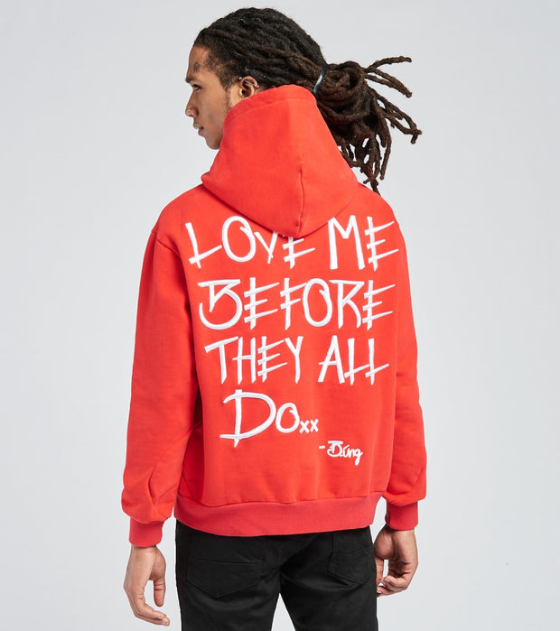 Love Me Before They All Do  Love Me Before They All Do Hoodie  Red - H1001-RED | Jimmy Jazz