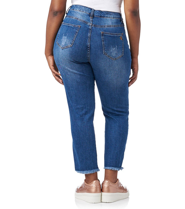 Essentials  Plus Floral Embroidered Jeans  Blue - H2170443MBX-MEW | Jimmy Jazz