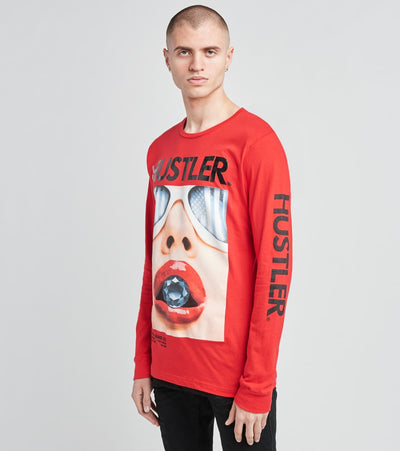 Reason  Hustler Bite Long Sleeve Tee  Red - H70-RED | Jimmy Jazz