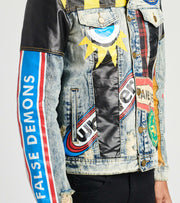 Reason  Crazed Denim Jacket  Multi - H9207-IMT | Jimmy Jazz