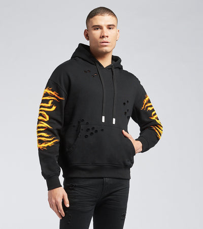 Haculla  On Fire Hoodie  Black - HA02BA-KH05 | Jimmy Jazz