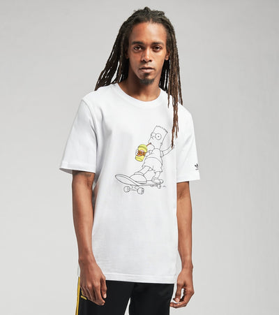 Adidas  Simpsons Squishee Short Sleeve Tee  White - HA5811-100 | Jimmy Jazz