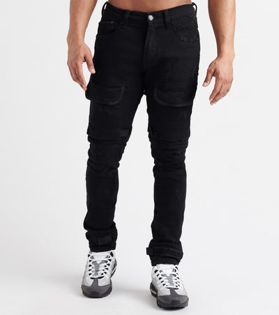 Heritage  Velcro Tape Jean  Black - HAWB664-BLK | Jimmy Jazz