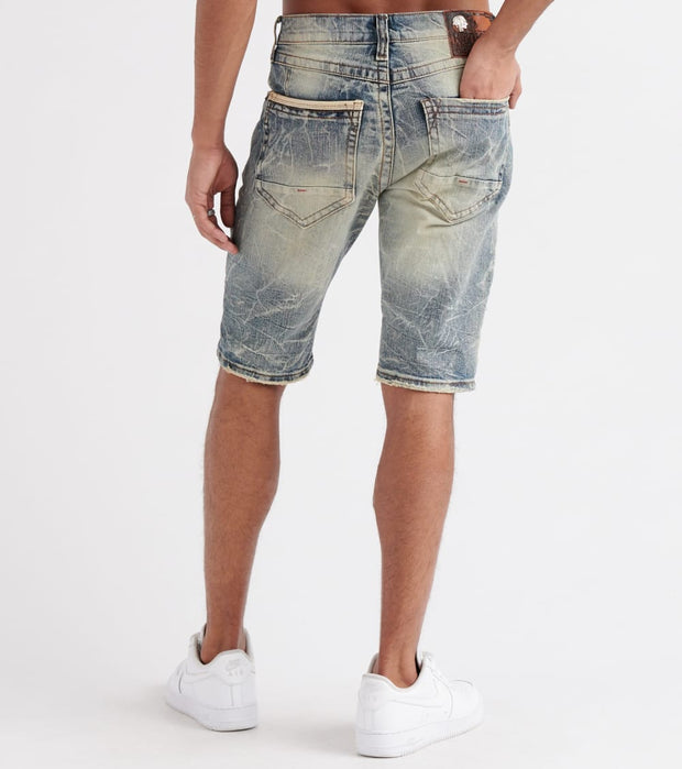Heritage  5-Pocket Non-Stretch Shorts  Blue - HAWB722-IND | Jimmy Jazz