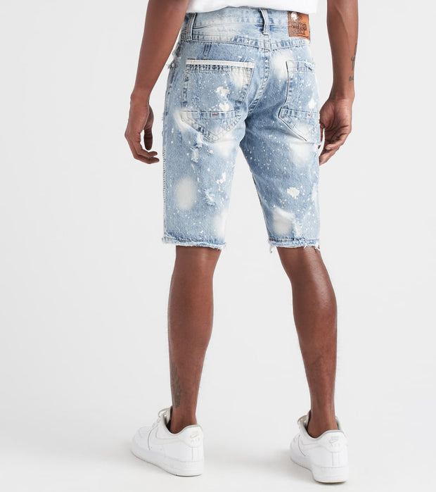 Heritage  Moto Shorts With Rips  Blue - HAWB723-IND | Jimmy Jazz
