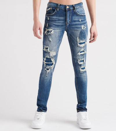 Heritage  5-Pocket Rip Jeans  Blue - HAWB750-DIN | Jimmy Jazz