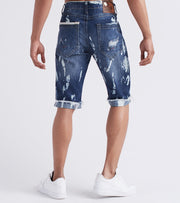 Heritage  5-Pocket BTM Folded Jean Shorts  Blue - HAWB766-DIN | Jimmy Jazz