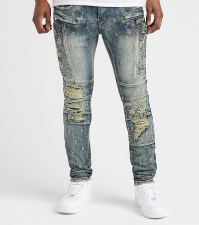 Heritage  Alex Zip Pocket Jean  Blue - HAWB776-IND | Jimmy Jazz