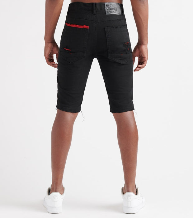Heritage  No Stretch Shorts  Black - HAWB810-BKR | Jimmy Jazz