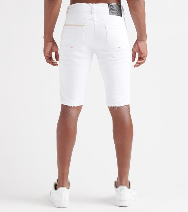 Heritage  Moto Stretch Shorts  White - HAWB811-WHT | Jimmy Jazz