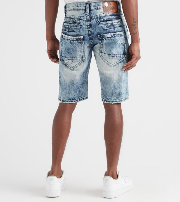 Heritage  Shorts With Plaid Backing  Blue - HAWB816-IND | Jimmy Jazz