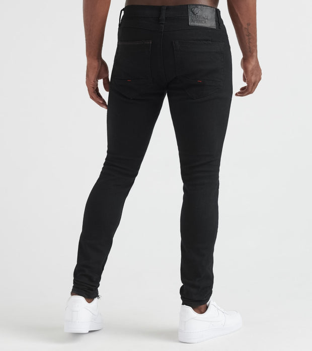 Heritage  Black Bull Jeans With Rips  Black - HAWB898-BLK | Jimmy Jazz