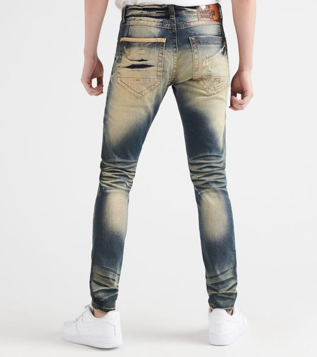 Heritage  5 Pocket Jean With Tint  Blue - HAWB916-IND | Jimmy Jazz