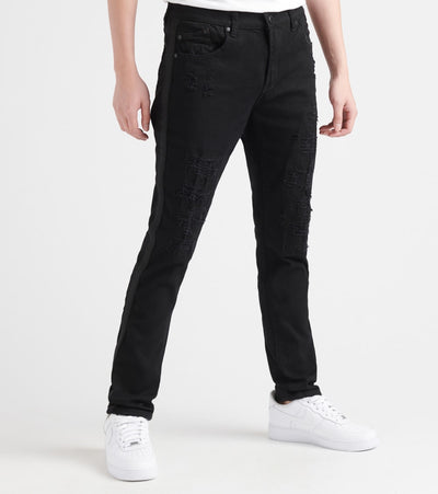 Heritage  5 Pocket Jean With Rips  Black - HAWB917-BLK | Jimmy Jazz