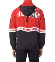 Heritage  CHEVRON STRIPE PULLOVER JACKET  Black - HAWJKT113-BKR | Jimmy Jazz
