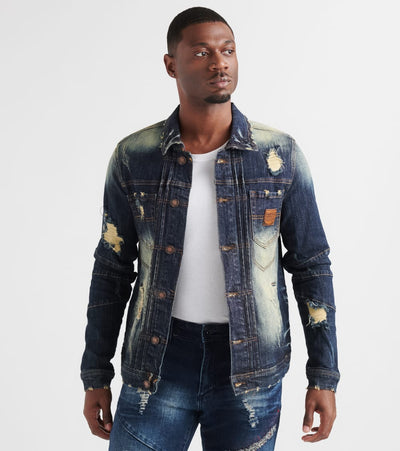 Heritage  Denim Jacket  Navy - HAWJKT171-DKW | Jimmy Jazz