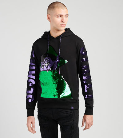 DE.KRYPTIC  The Count Reversible Sequin Hoodie  Black - HD9W6YSES-BLK | Jimmy Jazz